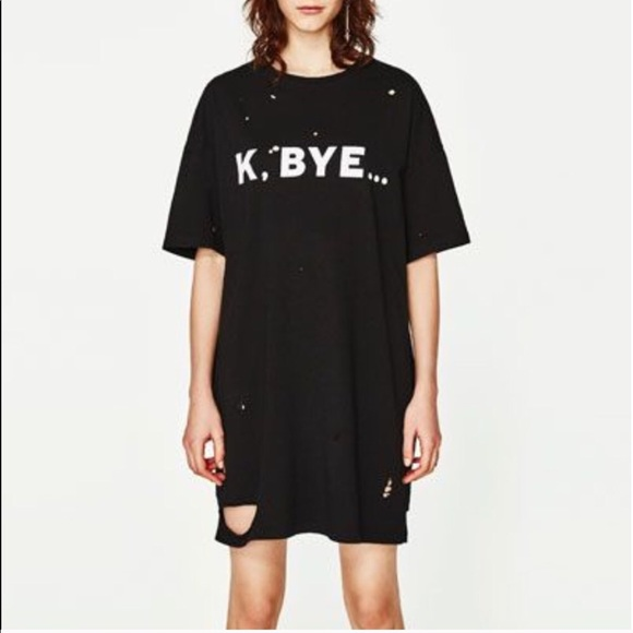 07ab38a5558 Distressed T-Shirt Dress